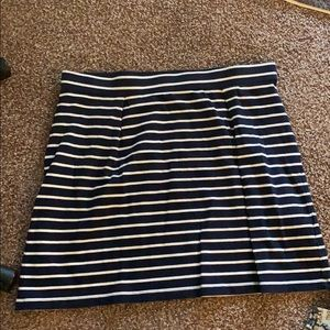 Striped cotton mini